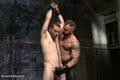 Photo number 3 from Slave #316 welcomes Aleks Buldocek to the house shot for Bound Gods on Kink.com. Featuring Aleks Buldocek and Sebastian Keys in hardcore BDSM & Fetish porn.