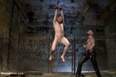 Photo number 6 from Slave #316 welcomes Aleks Buldocek to the house shot for Bound Gods on Kink.com. Featuring Aleks Buldocek and Sebastian Keys in hardcore BDSM & Fetish porn.