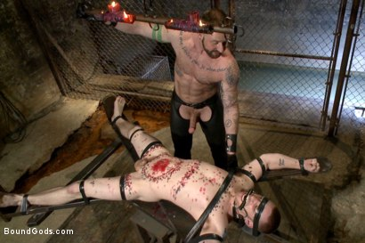 Photo number 7 from Slave #316 welcomes Aleks Buldocek to the house shot for Bound Gods on Kink.com. Featuring Aleks Buldocek and Sebastian Keys in hardcore BDSM & Fetish porn.