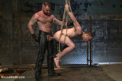 Photo number 11 from Slave #316 welcomes Aleks Buldocek to the house shot for Bound Gods on Kink.com. Featuring Aleks Buldocek and Sebastian Keys in hardcore BDSM & Fetish porn.