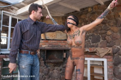 Photo number 5 from The Good, The Bad and the Rotten: 19 Year Old, Anal, Epic Squirting, Rough Sex and Bondage shot for Sex And Submission on Kink.com. Featuring Bonnie Rotten and James Deen in hardcore BDSM & Fetish porn.