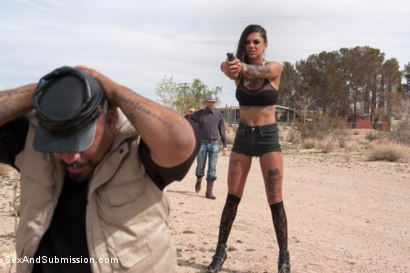 Photo number 2 from The Good, The Bad and the Rotten: 19 Year Old, Anal, Epic Squirting, Rough Sex and Bondage shot for Sex And Submission on Kink.com. Featuring Bonnie Rotten and James Deen in hardcore BDSM & Fetish porn.