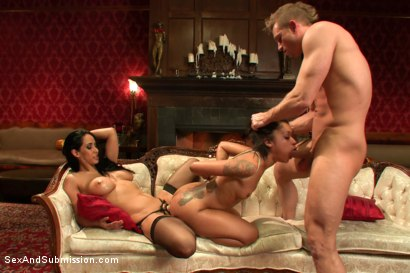 Photo number 12 from Kinky Couple Convert Lesbian into Submissive Whore shot for Sex And Submission on Kink.com. Featuring Skin Diamond, Isis Love and Bill Bailey in hardcore BDSM & Fetish porn.