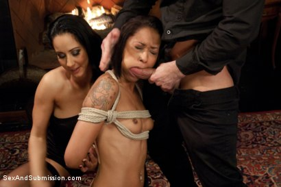 Photo number 3 from Kinky Couple Convert Lesbian into Submissive Whore shot for Sex And Submission on Kink.com. Featuring Skin Diamond, Isis Love and Bill Bailey in hardcore BDSM & Fetish porn.