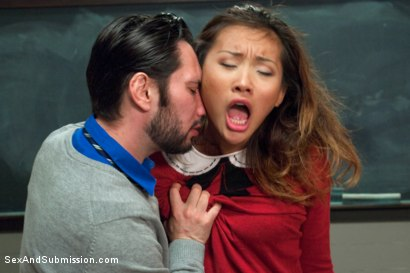 Photo number 2 from 19 Year Old Punished Foreign Exchange Slave shot for Sex And Submission on Kink.com. Featuring Alina Li and Tommy Pistol in hardcore BDSM & Fetish porn.