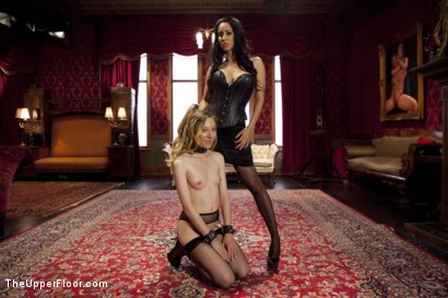 Photo number 1 from Isis Love and her Bitch Emma Haize Share One Hard Dick shot for The Upper Floor on Kink.com. Featuring Maestro, Emma Haize and Isis Love in hardcore BDSM & Fetish porn.