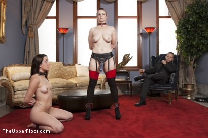 Photo number 17 from Ms. Rossi and the Anal Trainee Slave shot for The Upper Floor on Kink.com. Featuring Wolf Hudson, Marley Blaze and Bella Rossi in hardcore BDSM & Fetish porn.