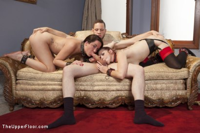 Photo number 10 from Ms. Rossi and the Anal Trainee Slave shot for The Upper Floor on Kink.com. Featuring Wolf Hudson, Marley Blaze and Bella Rossi in hardcore BDSM & Fetish porn.