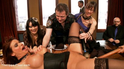 Photo number 1 from Anal Punishment for Submissive Service Sluts shot for The Upper Floor on Kink.com. Featuring Syren de Mer, Tommy Pistol and Daisy Ducati in hardcore BDSM & Fetish porn.