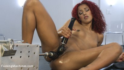 Photo number 14 from All She wants is to Ride our Alien Head Sybian - How can we say No? shot for Fucking Machines on Kink.com. Featuring Daisy Ducati in hardcore BDSM & Fetish porn.