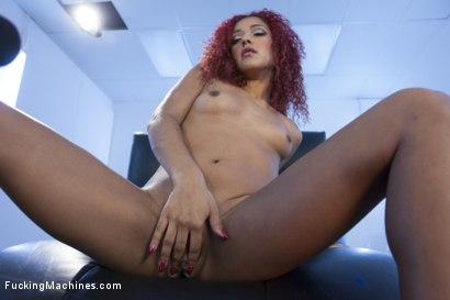 Photo number 2 from All She wants is to Ride our Alien Head Sybian - How can we say No? shot for Fucking Machines on Kink.com. Featuring Daisy Ducati in hardcore BDSM & Fetish porn.