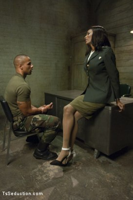 "Photo number 1 from TS Natassia Dream & Robert Axel in The Prelude to ""Super Soldier"" shot for TS Seduction on Kink.com. Featuring Natassia Dreams and Robert Axel in hardcore BDSM & Fetish porn."