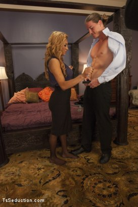 Photo number 2 from Office Politics: She will Get her Dick in You & You will Give in 2 her shot for TS Seduction on Kink.com. Featuring Jessy Dubai  and Kip Johnson in hardcore BDSM & Fetish porn.