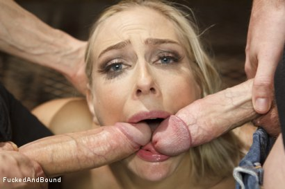 Photo number 4 from Big Tit MILF gets Double Penetrated shot for Fucked and Bound on Kink.com. Featuring Owen Gray, Angel Allwood and Christian Wilde in hardcore BDSM & Fetish porn.