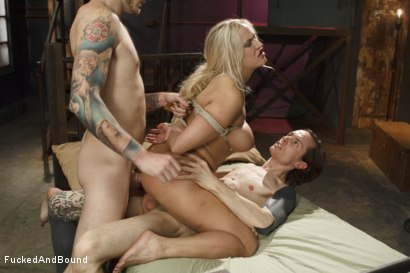 Photo number 9 from Big Tit MILF gets Double Penetrated shot for  on Kink.com. Featuring Owen Gray, Angel Allwood and Christian Wilde in hardcore BDSM & Fetish porn.