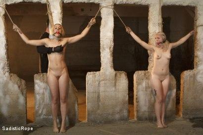 Photo number 13 from 2 Helpless Blonde Whores in Brutal Bondage! shot for Sadistic Rope on Kink.com. Featuring Ella Nova  and Dylan Ryan in hardcore BDSM & Fetish porn.
