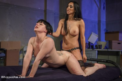 Photo number 7 from Isis Love returns to double penetrate desperate lesbian slut! shot for Whipped Ass on Kink.com. Featuring Isis Love and Katharine Cane in hardcore BDSM & Fetish porn.