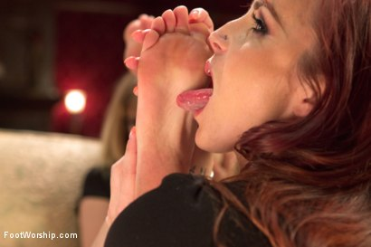 Photo number 11 from Foot Maids: Part 1 shot for Foot Worship on Kink.com. Featuring Mona Wales, Bella Rossi and Kip Johnson in hardcore BDSM & Fetish porn.