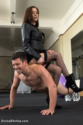 Photo number 4 from Gia DiMarco's Divine Exercise Torture shot for Divine Bitches on Kink.com. Featuring Gia DiMarco and Reed Jameson in hardcore BDSM & Fetish porn.
