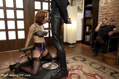 Photo number 5 from The Training of a Nympho Anal MILF, Day Two shot for The Training Of O on Kink.com. Featuring Veronica Avluv and Mickey Mod in hardcore BDSM & Fetish porn.