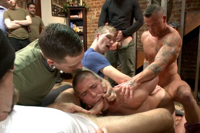 Photo number 4 from Connor Maguire's House Party  shot for Bound in Public on Kink.com. Featuring Austin Chandler, Sean Duran and Connor Maguire in hardcore BDSM & Fetish porn.