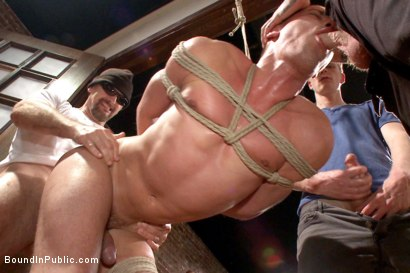 Photo number 12 from Connor Maguire's House Party  shot for Bound in Public on Kink.com. Featuring Austin Chandler, Sean Duran and Connor Maguire in hardcore BDSM & Fetish porn.
