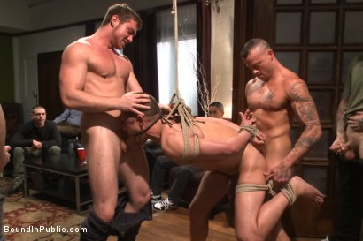 Photo number 9 from Connor Maguire's House Party  shot for Bound in Public on Kink.com. Featuring Austin Chandler, Sean Duran and Connor Maguire in hardcore BDSM & Fetish porn.
