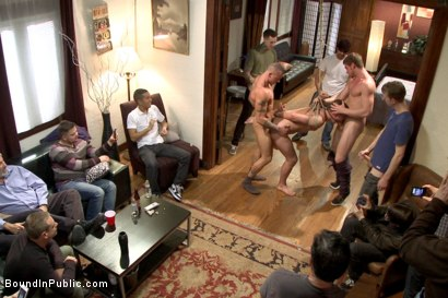 Photo number 11 from Connor Maguire's House Party  shot for Bound in Public on Kink.com. Featuring Austin Chandler, Sean Duran and Connor Maguire in hardcore BDSM & Fetish porn.