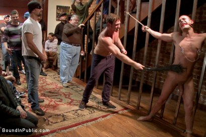 Photo number 7 from Connor Maguire's House Party  shot for Bound in Public on Kink.com. Featuring Austin Chandler, Sean Duran and Connor Maguire in hardcore BDSM & Fetish porn.