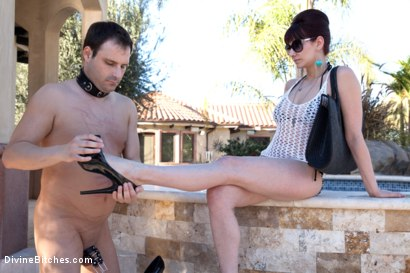 Photo number 5 from A Divine Vacation: FemDom Reality shot for Divine Bitches on Kink.com. Featuring Maitresse Madeline Marlowe  and Marcelo in hardcore BDSM & Fetish porn.