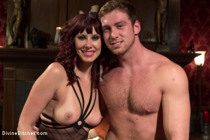 Photo number 12 from FemDom Edging, Teasing and Prostate Milking Test Shoot shot for Divine Bitches on Kink.com. Featuring Maitresse Madeline Marlowe and Connor Maguire in hardcore BDSM & Fetish porn.