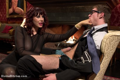 Photo number 14 from FemDom Edging, Teasing and Prostate Milking Test Shoot shot for Divine Bitches on Kink.com. Featuring Maitresse Madeline Marlowe and Connor Maguire in hardcore BDSM & Fetish porn.