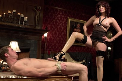 Photo number 15 from FemDom Edging, Teasing and Prostate Milking Test Shoot shot for Divine Bitches on Kink.com. Featuring Maitresse Madeline Marlowe and Connor Maguire in hardcore BDSM & Fetish porn.