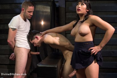 Photo number 10 from Cuckolding Brat Princess shot for Divine Bitches on Kink.com. Featuring Mia Li, Wolf Hudson and Sal Marquez in hardcore BDSM & Fetish porn.