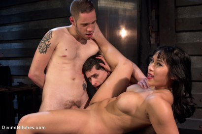Photo number 13 from Cuckolding Brat Princess shot for Divine Bitches on Kink.com. Featuring Mia Li, Wolf Hudson and Sal Marquez in hardcore BDSM & Fetish porn.