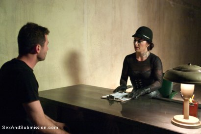 Photo number 1 from The Kennels shot for Sex And Submission on Kink.com. Featuring James Deen, Juliette March, Daisy Ducati and Bella Rossi in hardcore BDSM & Fetish porn.