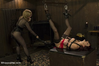 Photo number 5 from Retribution: Maitresse Madeline taken down, dominated and anally fucked by Nina Hartley! shot for Whipped Ass on Kink.com. Featuring Maitresse Madeline Marlowe  and Nina Hartley in hardcore BDSM & Fetish porn.