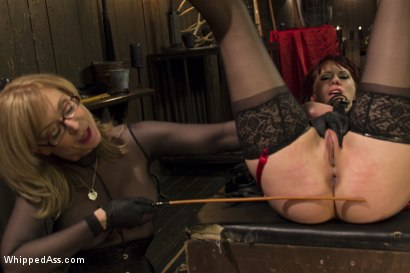 Photo number 3 from Retribution: Maitresse Madeline taken down, dominated and anally fucked by Nina Hartley! shot for Whipped Ass on Kink.com. Featuring Maitresse Madeline Marlowe  and Nina Hartley in hardcore BDSM & Fetish porn.