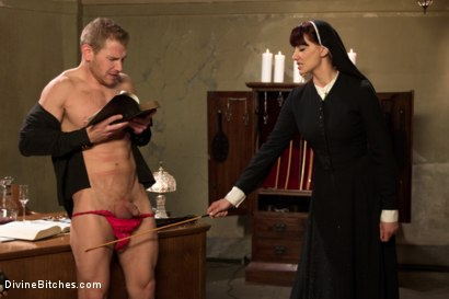 Photo number 2 from Divine Intervention: A Divine Bitches feature presentation with taboo, punishment and milking! shot for Divine Bitches on Kink.com. Featuring Maitresse Madeline Marlowe  and Alex Adams in hardcore BDSM & Fetish porn.