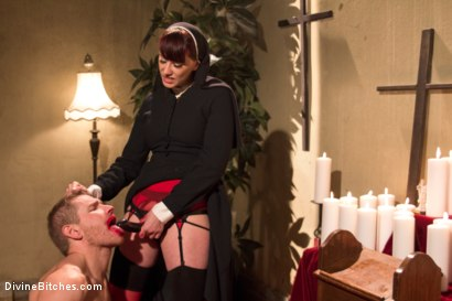 Photo number 14 from Divine Intervention: A Divine Bitches feature presentation with taboo, punishment and milking! shot for Divine Bitches on Kink.com. Featuring Maitresse Madeline Marlowe  and Alex Adams in hardcore BDSM & Fetish porn.