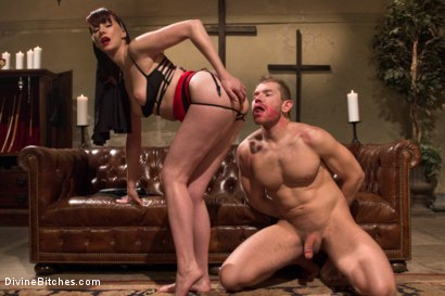 Photo number 13 from Divine Intervention: A Divine Bitches feature presentation with taboo, punishment and milking! shot for Divine Bitches on Kink.com. Featuring Maitresse Madeline Marlowe  and Alex Adams in hardcore BDSM & Fetish porn.