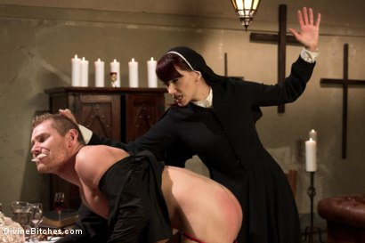 Photo number 12 from Divine Intervention: A Divine Bitches feature presentation with taboo, punishment and milking! shot for Divine Bitches on Kink.com. Featuring Maitresse Madeline Marlowe  and Alex Adams in hardcore BDSM & Fetish porn.