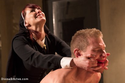 Photo number 4 from Divine Intervention: A Divine Bitches feature presentation with taboo, punishment and milking! shot for Divine Bitches on Kink.com. Featuring Maitresse Madeline Marlowe  and Alex Adams in hardcore BDSM & Fetish porn.