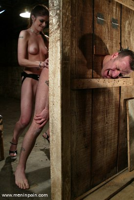Photo number 12 from Alice Sadique and Rox shot for Men In Pain on Kink.com. Featuring Alice Sadique and Rox in hardcore BDSM & Fetish porn.