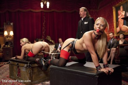 Photo number 1 from Kinky MILF Sex Slaves Service Hot Stud Dick shot for The Upper Floor on Kink.com. Featuring Wolf Hudson, Holly Heart and Simone Sonay in hardcore BDSM & Fetish porn.