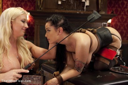 Photo number 3 from Alpha Anal Slave Teaches her Bitch to Service Hard Cock shot for The Upper Floor on Kink.com. Featuring Leya Falcon, Katrina Jade and Karlo Karrera in hardcore BDSM & Fetish porn.