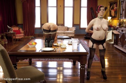 Photo number 2 from A Day of Cock Service on the Upper Floor shot for The Upper Floor on Kink.com. Featuring Delilah Davis, Iona Grace and Mr. Pete in hardcore BDSM & Fetish porn.