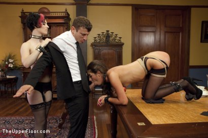 Photo number 6 from A Day of Cock Service on the Upper Floor shot for The Upper Floor on Kink.com. Featuring Delilah Davis, Iona Grace and Mr. Pete in hardcore BDSM & Fetish porn.