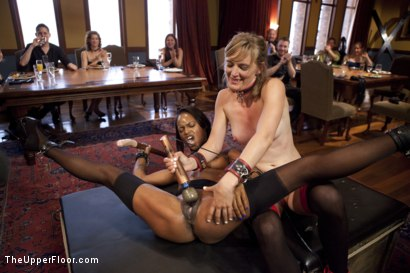 Photo number 4 from Slave Orgasm Overload shot for The Upper Floor on Kink.com. Featuring Marie Luv and Mona Wales in hardcore BDSM & Fetish porn.