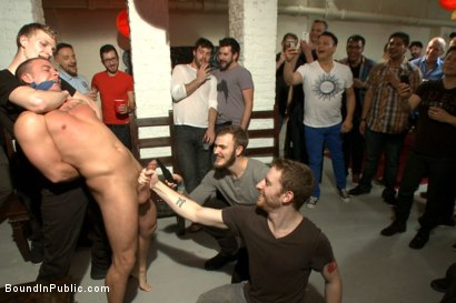 Photo number 5 from Hot art thief with a big cock beaten and fucked into submission shot for Bound in Public on Kink.com. Featuring Eli Hunter, Mitch Vaughn and Christian Wilde in hardcore BDSM & Fetish porn.